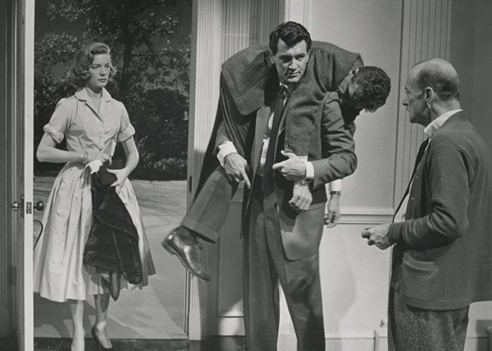 Lauren Bacall, Rock Hudson, Robert Keith, and Robert Stack in Written on the Wind (1956)