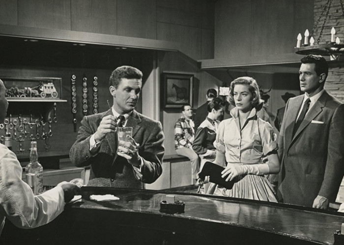Lauren Bacall, Rock Hudson, Carl Christian, and Robert Stack in Written on the Wind (1956)