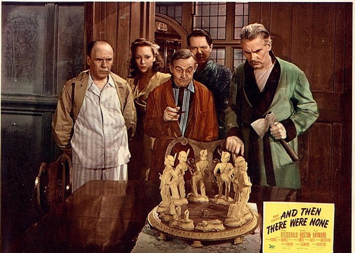 June Duprez, Barry Fitzgerald, Louis Hayward, Walter Huston, and Roland Young in And Then There Were None (1945)