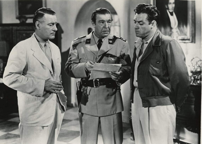 Raymond Burr, Lon Chaney Jr., and Tom Conway in Bride of the Gorilla (1951)