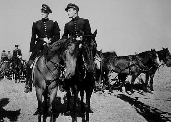 """Santa Fe Trail"" Ronald Reagan, Errol Flynn"