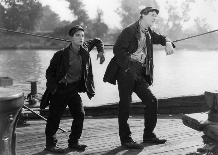 Buster Keaton and Ernest Torrence in Steamboat Bill, Jr. (1928)