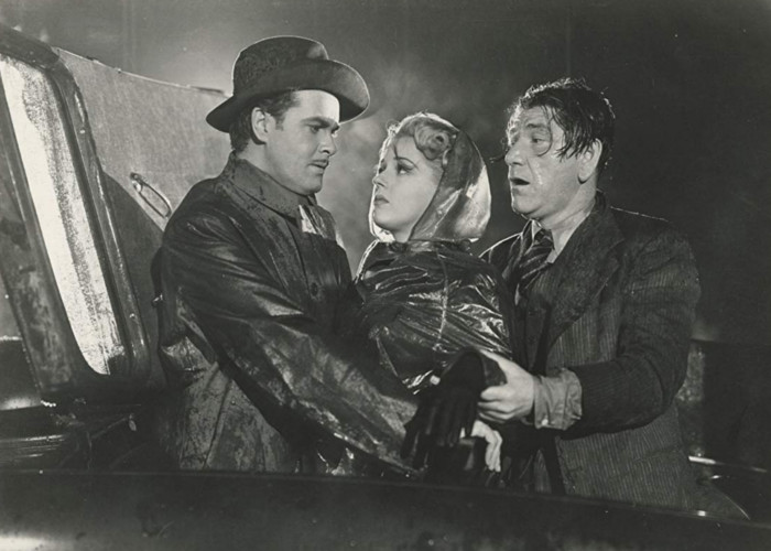 Anne Gwynne, Shemp Howard, and Patric Knowles in The Strange Case of Doctor Rx (1942)