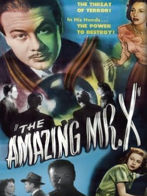 Turhan Bey, Lynn Bari, and Cathy O'Donnell in The Amazing Mr. X (1948)
