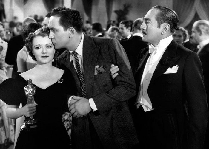 Janet Gaynor, Fredric March, and Adolphe Menjou in A Star Is Born (1937)