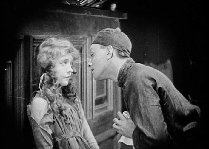 Lillian Gish and Richard Barthelmess in Broken Blossoms or The Yellow Man and the Girl (1919)