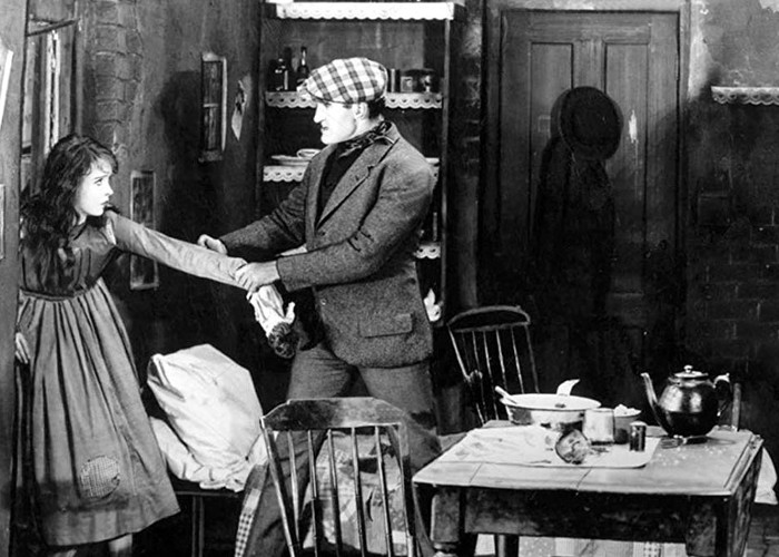 Lillian Gish and Donald Crisp in Broken Blossoms or The Yellow Man and the Girl (1919)