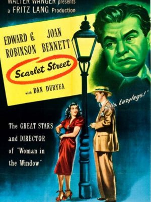 Edward G. Robinson, Joan Bennett, and Dan Duryea in Scarlet Street (1945)