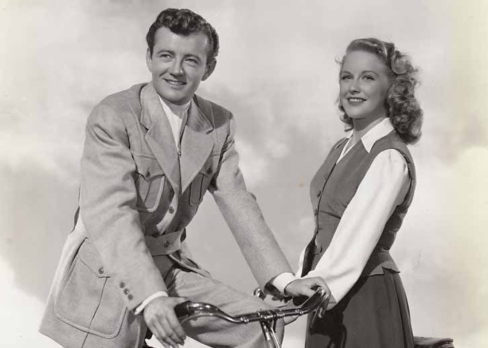 Dorothy Patrick and Robert Walker in Till the Clouds Roll By (1946)