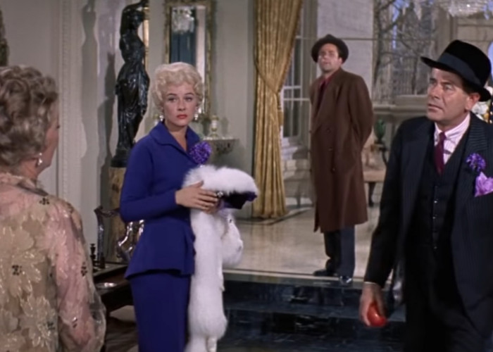 Bette Davis, Peter Falk, Hope Lange, and Mickey Shaughnessy in Pocketful of Miracles (1961)