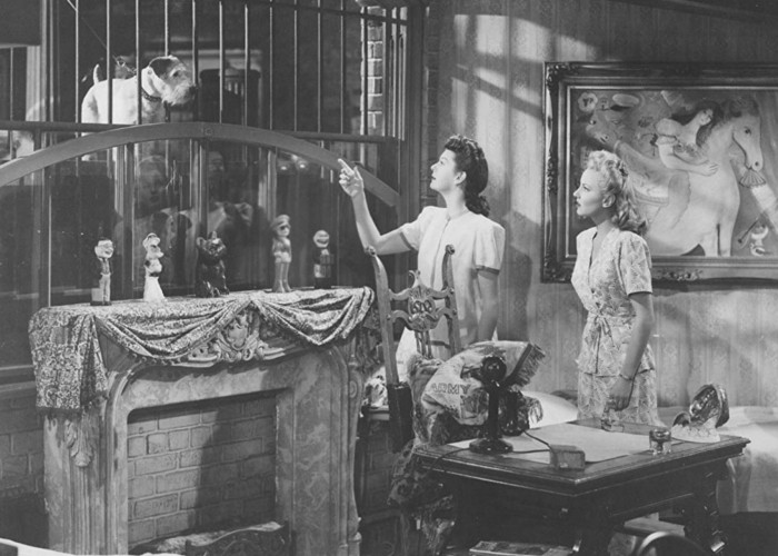Janet Blair and Rosalind Russell in My Sister Eileen (1942)