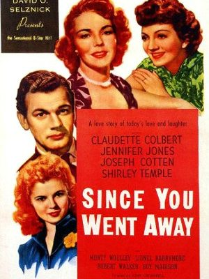Shirley Temple, Claudette Colbert, Joseph Cotten, and Jennifer Jones in Since You Went Away (1944)