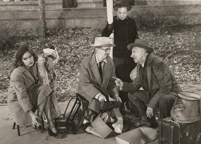 Jimmy Durante, Jimmy Conlin, Terry Moore, and Queenie Smith in The Great Rupert (1950)