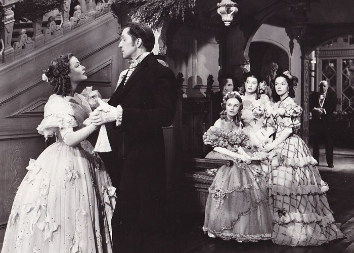 Gene Tierney, Vincent Price, Connie Marshall, Trudy Marshall, and Jane Nigh in Dragonwyck (1946)
