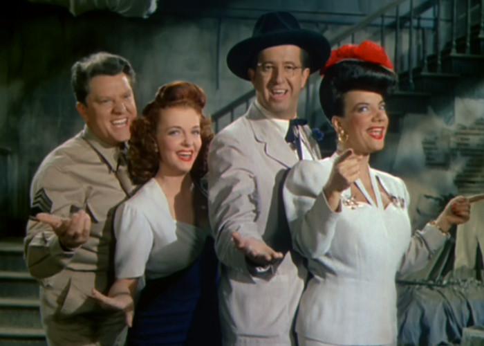Carmen Miranda and Vivian Blaine in Something for the Boys (1944)