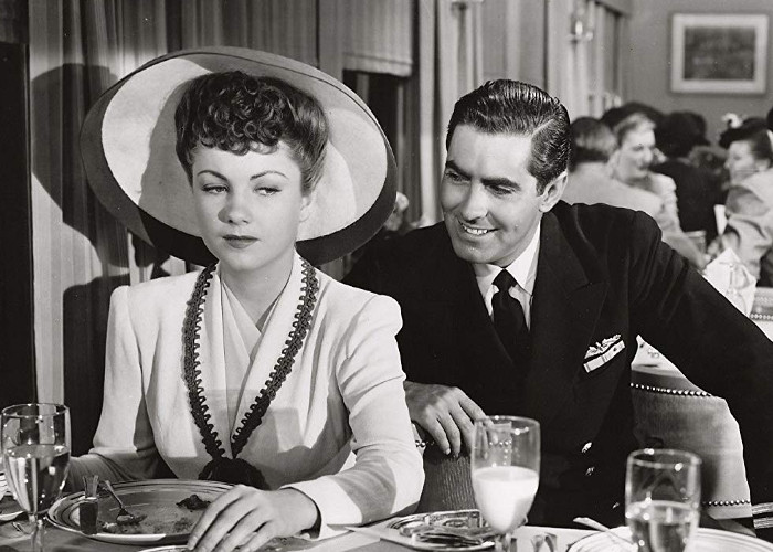 Tyrone Power and Anne Baxter in Crash Dive (1943)