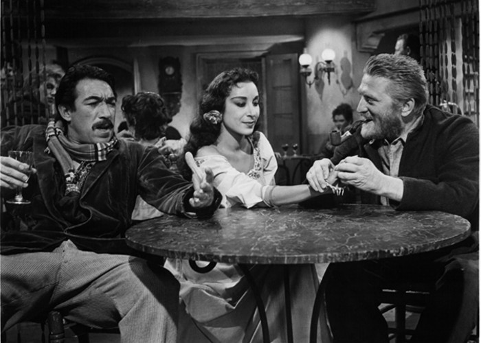 Kirk Douglas, Anthony Quinn, and Julie Robinson in Lust for Life (1956)