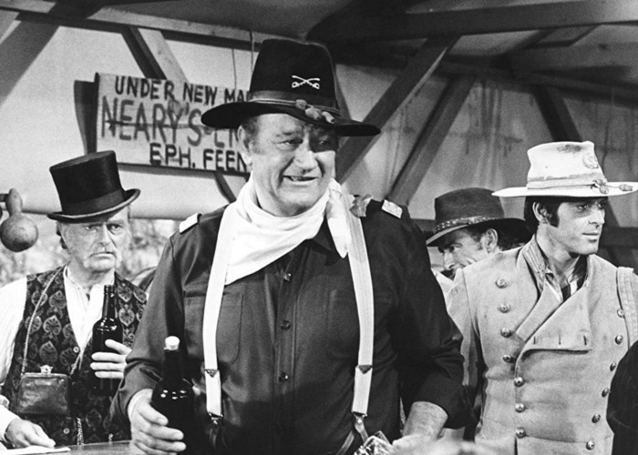 John Wayne, Don 'Red' Barry, and Jorge Rivero in Rio Lobo (1970)