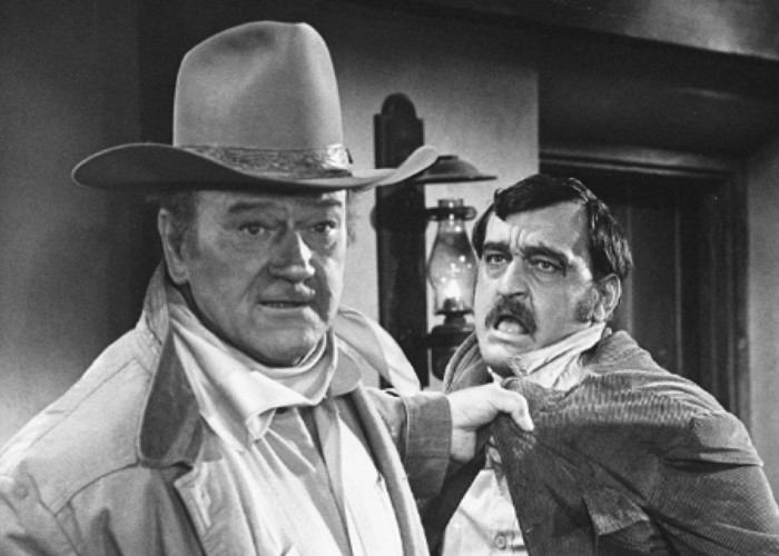 John Wayne and Jack Elam in Rio Lobo (1970)