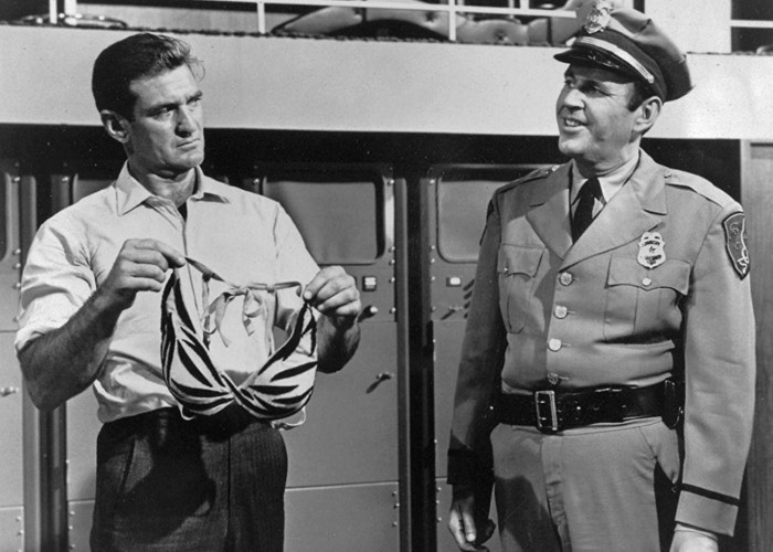 Paul Lynde and Rod Taylor in The Glass Bottom Boat (1966)