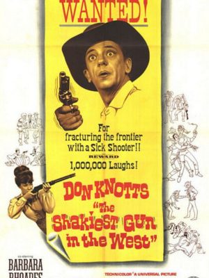 Don Knotts and Barbara Rhoades in The Shakiest Gun in the West (1968)