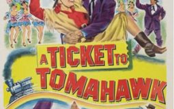 Anne Baxter, Dan Dailey, and Chief Yowlachie in A Ticket to Tomahawk (1950)
