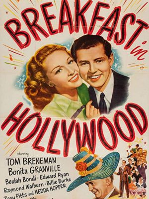 Tom Breneman, Bonita Granville, and Edward Ryan in Breakfast in Hollywood (1946)