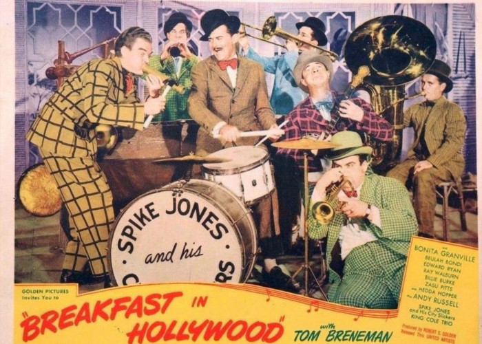 Spike Jones, Red Ingle, and Del Porter in Breakfast in Hollywood (1946)
