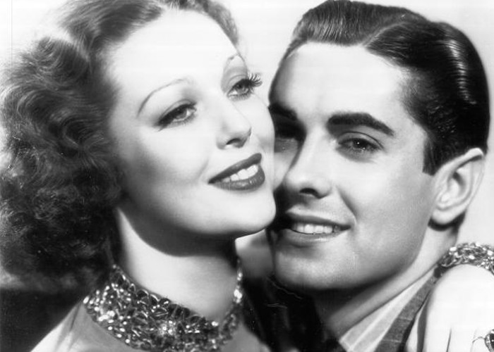 Tyrone Power and Loretta Young in Café Metropole (1937)