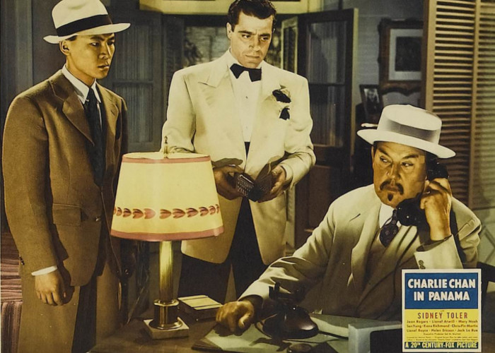 Jack La Rue, Sidney Toler, and Victor Sen Yung in Charlie Chan in Panama (1940)