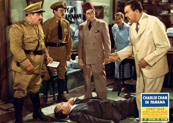 Chris-Pin Martin, Frank Puglia, Addison Richards, and Sidney Toler in Charlie Chan in Panama (1940)