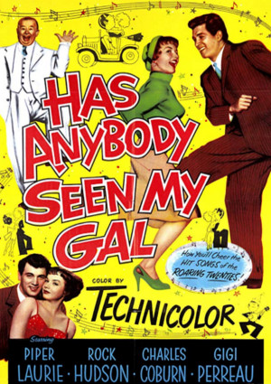 Rock Hudson, Piper Laurie, and Charles Coburn in Has Anybody Seen My Gal (1952)