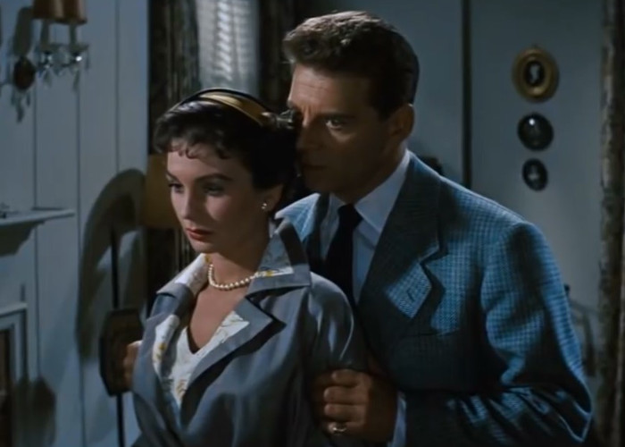 Jean Simmons and Jean-Pierre Aumont in Hilda Crane (1956)