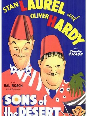 Oliver Hardy and Stan Laurel in Sons of the Desert (1933)
