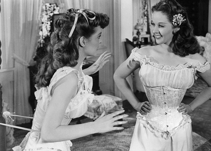 Susan Hayward and Julie London in Tap Roots (1948)
