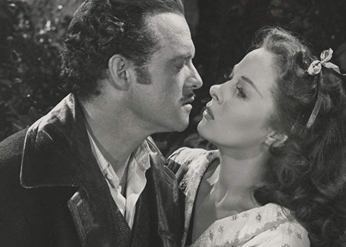 Susan Hayward and Van Heflin in Tap Roots (1948)