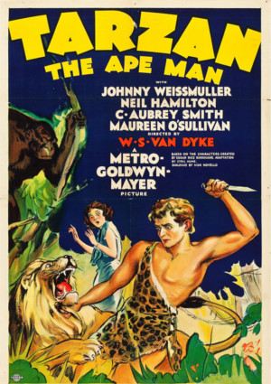 Johnny Weissmuller in Tarzan the Ape Man (1932)