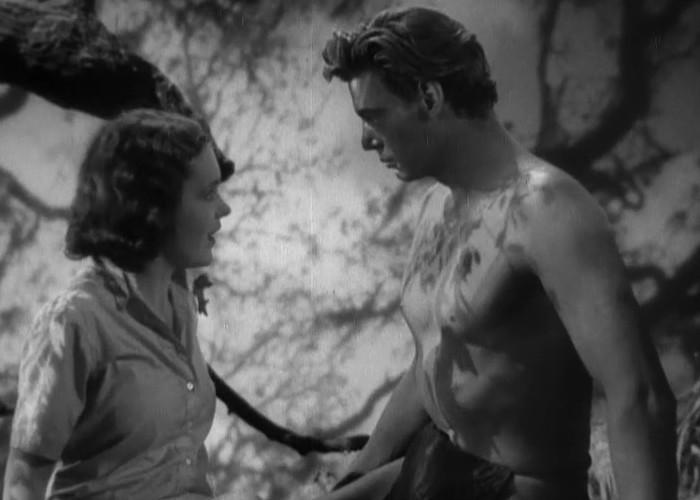 Maureen O'Sullivan and Johnny Weissmuller in Tarzan the Ape Man (1932)