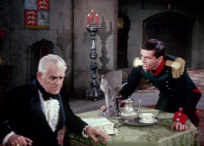 Jack Nicholson and Boris Karloff in The Terror (1963)