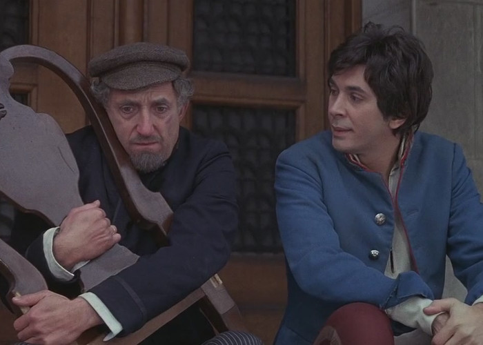 Frank Langella and Ron Moody in The Twelve Chairs (1970)