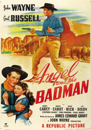 John Wayne and Gail Russell in Angel and the Badman (1947)