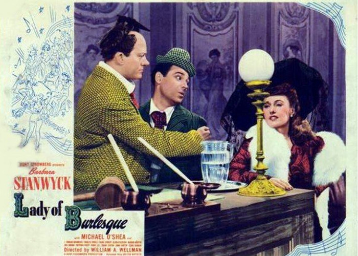Barbara Stanwyck, Pinky Lee, and Michael O'Shea in Lady of Burlesque (1943)