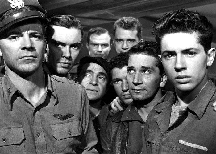 Dana Andrews, Richard Conte, Don 'Red' Barry, John Craven, Farley Granger, Sam Levene, Kevin O'Shea, and Charles Russell in The Purple Heart (1944)