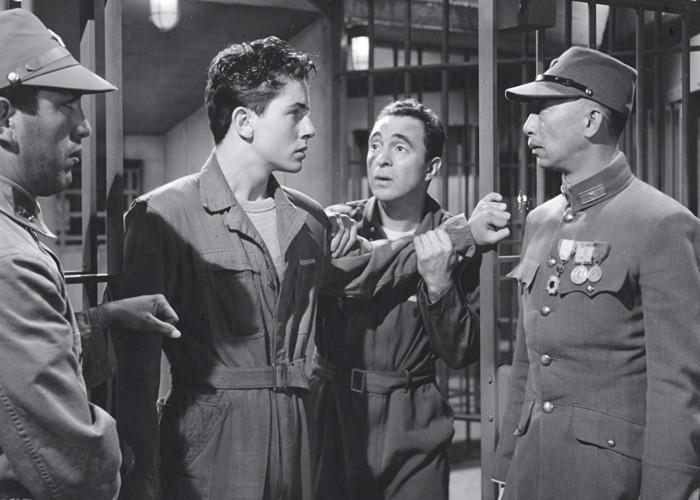 Farley Granger, Sam Levene, and Richard Loo in The Purple Heart (1944)