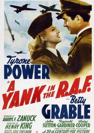 Tyrone Power and Betty Grable in A Yank in the R.A.F. (1941)