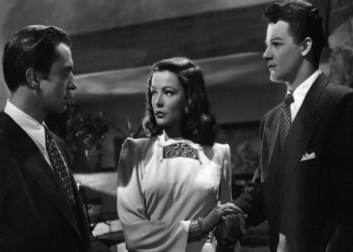 Gene Tierney, Vincent Price, and Cornel Wilde in Leave Her to Heaven (1945)