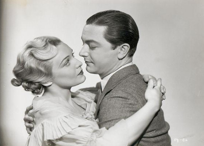Robert Young and Madeleine Carroll in Secret Agent (1936)