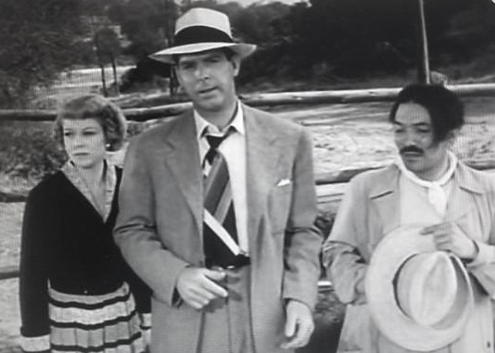 Fred MacMurray, José Torvay, and Claire Trevor in Borderline (1950)