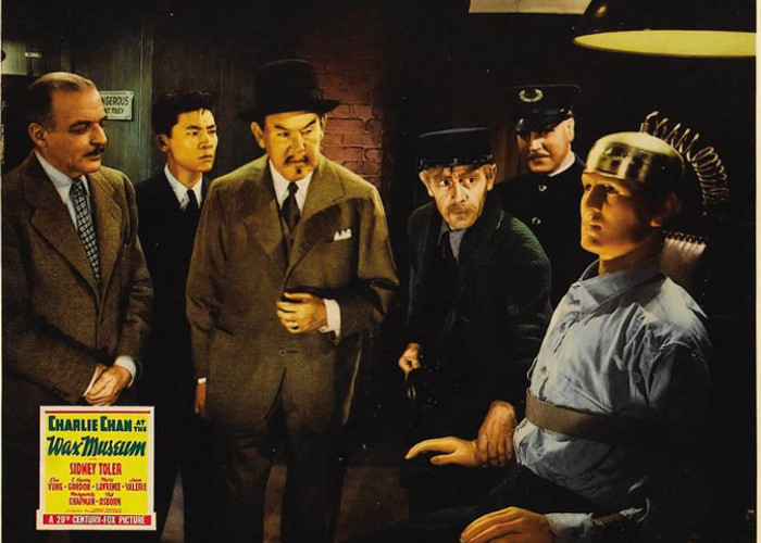 C. Henry Gordon, Eddie Marr, Ted Osborne, Sidney Toler, and Victor Sen Yung in Charlie Chan at the Wax Museum (1940)