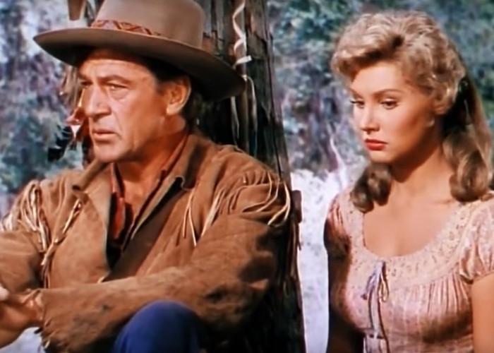 Gary Cooper and Mari Aldon in Distant Drums (1951)